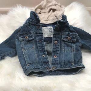 Oshkosh genuine baby jean jacket with hood 6M